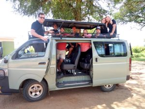 A safari vehicle suitable for a group